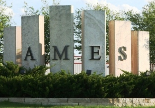 Photo of Ames welcome pillars