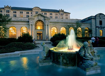 Photo of fountain in front of Iowa State University Memorial Union